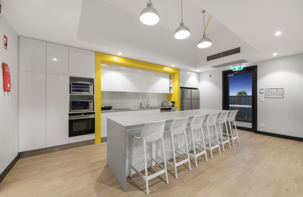 Commercial Yellow Kitchen