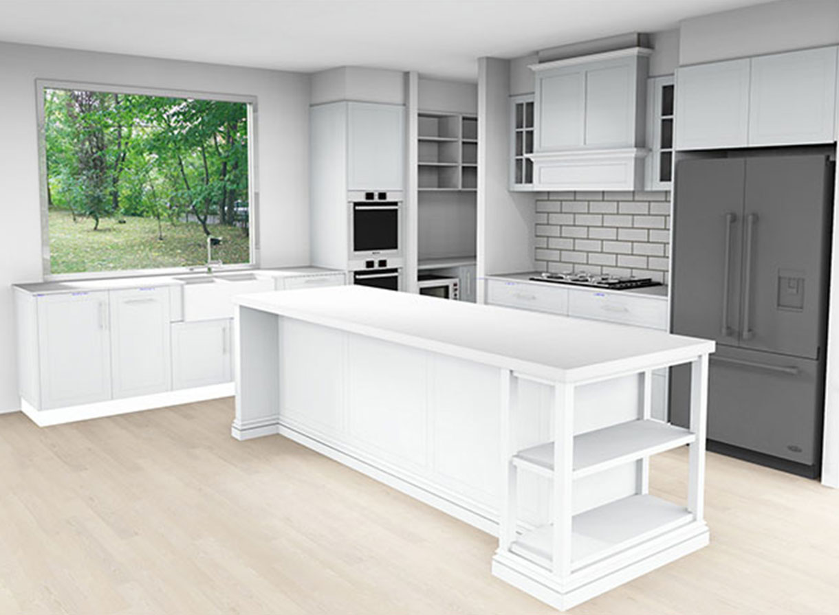 white kitchen themed design