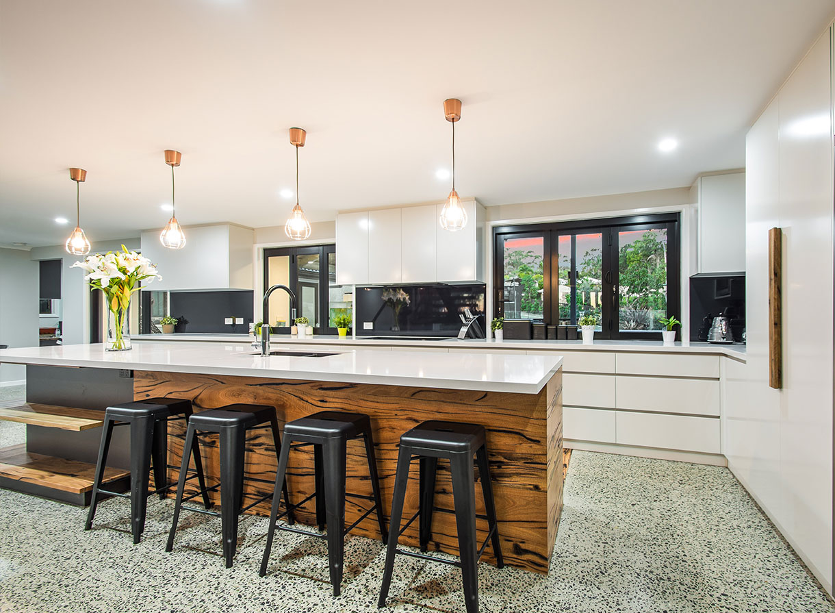 modern style kitchen chairs and lighting