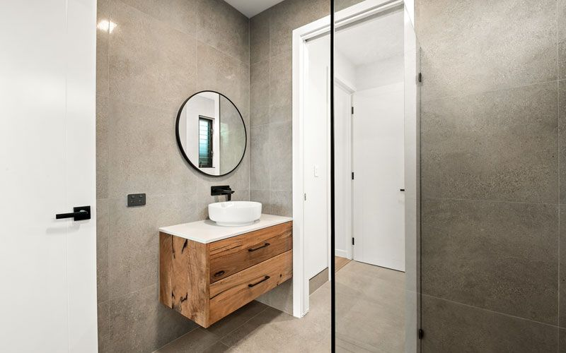 bathroom wooden style