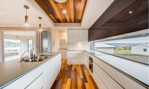 long style wooden kitchen design