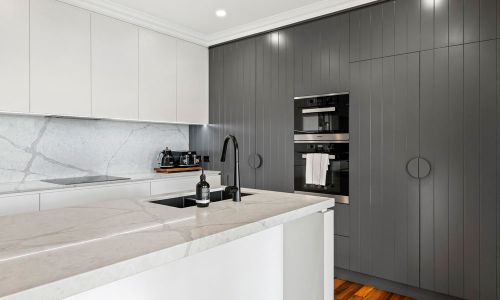 gray modern kitchen cabinet