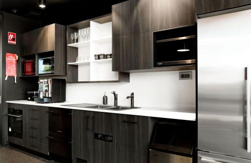 LJ Hooker Real estate Kitchen design in dark brown